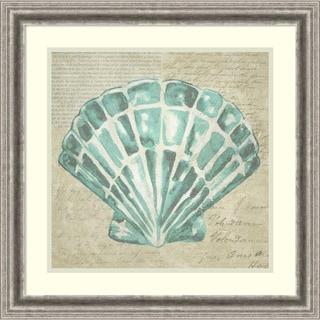 Framed Art Print 'Seafoam Shell III' by Chariklia Zarris 23 x 23-inch