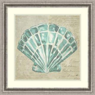 Framed Art Print 'Seafoam Shell III' by Chariklia Zarris 23 x 23-inch|https://ak1.ostkcdn.com/images/products/14429831/P20996264.jpg?impolicy=medium