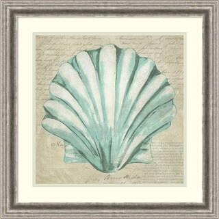 Framed Art Print 'Seafoam Shell II' by Chariklia Zarris 23 x 23-inch