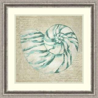 Framed Art Print 'Seafoam Shell I' by Chariklia Zarris 23 x 23-inch