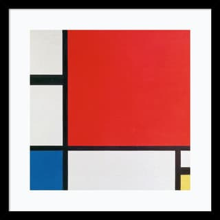 Framed Art Print 'Composition II in Red, Blue, and Yellow' by Piet Mondrian 21 x 21-inch
