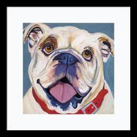 Framed Art Print 'I (Bulldog)' by Kellee Beaudry 17 x 17-inch