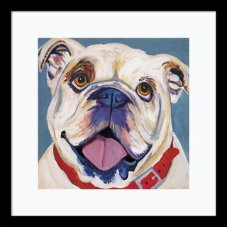 Framed Art Print 'I (Bulldog)' by Kellee Beaudry 17 x 17-inch