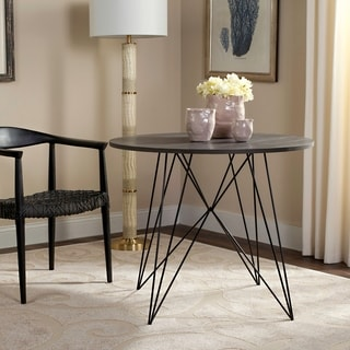 Safavieh Marino Dark Grey / Black Round Dining Table