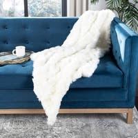 Safavieh Textured Snow White 50 x 60-inch Throw Blanket