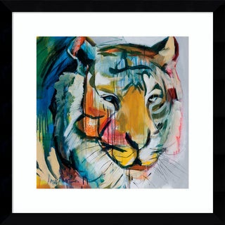 Framed Art Print 'Tiger Tiger' by Angela Maritz 17 x 17-inch