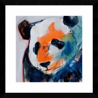 Framed Art Print 'Call Me Panda' by Angela Maritz 17 x 17-inch