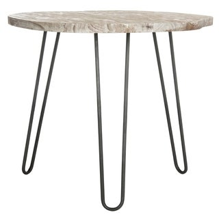 Safavieh Mindy Wood Top Grey / White Wash Dining Table