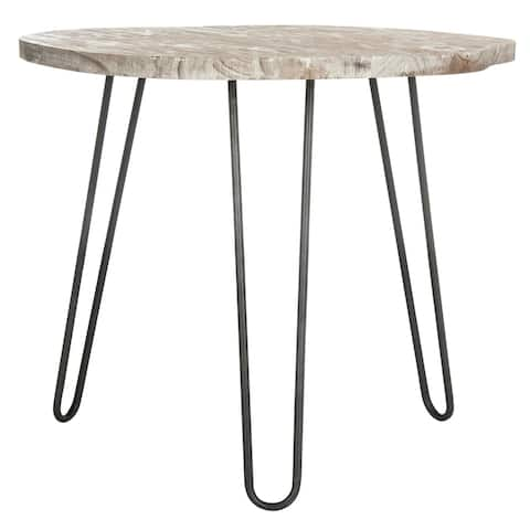 """Safavieh Mindy Wood Top Grey / White Wash Dining Table - 39.4"""" x 35.4"""" x 29.9"""""""