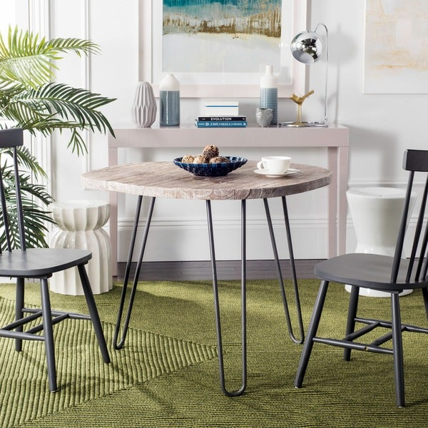 Safavieh Mindy Wood Top Grey White Wash Dining Table
