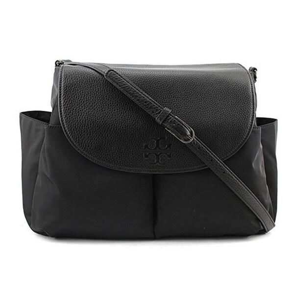 76bde2d80795 Shop Tory Burch Thea Nylon Baby Bag Women Black Crossbody Handbag ...