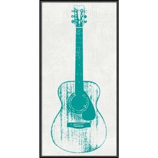 Framed Art Print 'Guitar Collector I' by Kevin Inge 12 x 24-inch