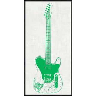 Framed Art Print 'Guitar Collector II' by Kevin Inge 12 x 24-inch