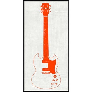 Framed Art Print 'Guitar Collector III' by Kevin Inge 12 x 24-inch