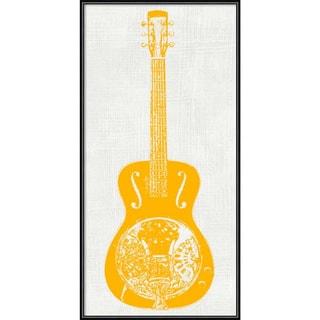 Framed Art Print 'Guitar Collector IV' by Kevin Inge 12 x 24-inch