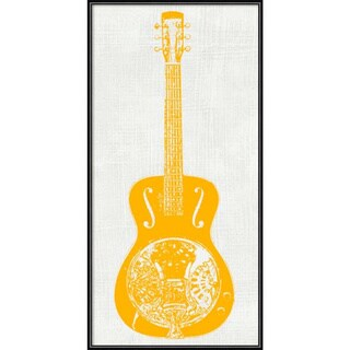 Framed Art Print 'Guitar Collector IV' by Kevin Inge 12 x 24-inch