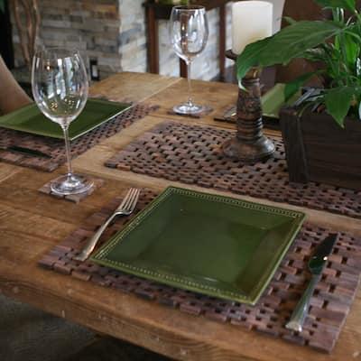 Handmade Modern Living Rosewood Placemats (Set of 2)