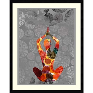 Framed Art Print 'Yoga Pose III' by Sisa Jasper 23 x 29-inch