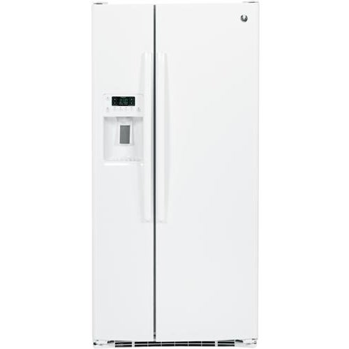 GE 23.2 Cu. Ft. Side-By-Side Refrigerator in white