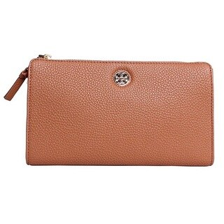 Tory Burch Robinson Bark Pebbled Wallet Crossbody Handbag