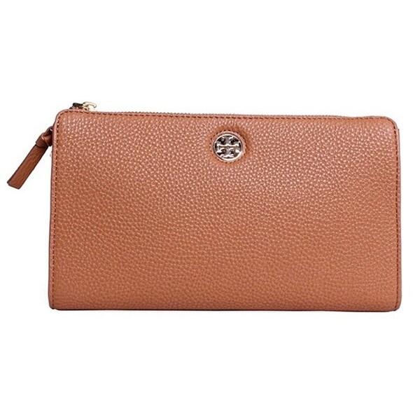 18d4c15e3e6 Shop Tory Burch Robinson Bark Pebbled Wallet Crossbody Handbag ...