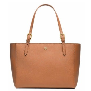 Tory Burch York Small Buckle Luggage Brown Tote Bag