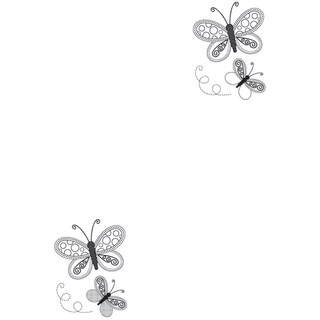 "Mini Clear Stamps 2.25""X3""-Butterflies"