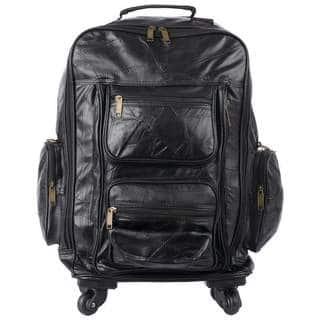 b96f8af37ed1 Embassy Genuine Patch Leather Spinner Backpack