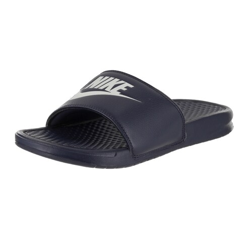 Nike Men's Benassi JDI Blue Synthetic Leather Sandals