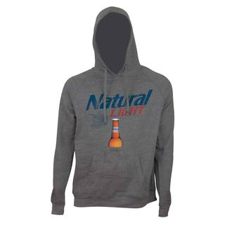 'Natural Light' Grey Beer Pouch Hoodie