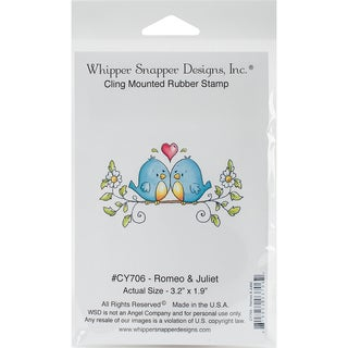 Whipper Snapper Cling Stamp 4X6-Romeo & Juliet