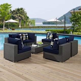 Sojourn 7-piece Outdoor Patio Sunbrella Sectional Set