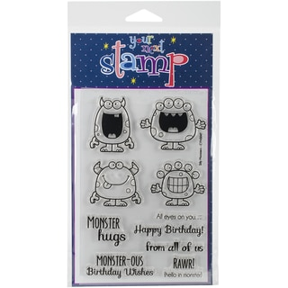 """Your Next Stamp Clear Stamps 4""""X6""""-Silly Monsters"""