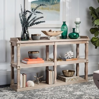 Safavieh Beauregard Weathered White Bookcase