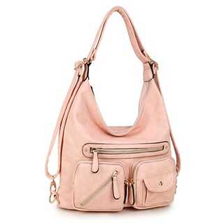 Dasein Shoulder Bag and Backpack (Option: Pink)