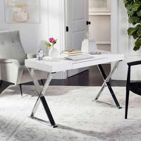 Safavieh Paley 47 in. W White/ Chrome Desk