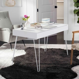 Safavieh Cade Mid-Century Retro White 2-drawer Desk