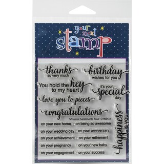 "Your Next Stamp Clear Stamps 4""X4""-Whatnot Sentiment 4"