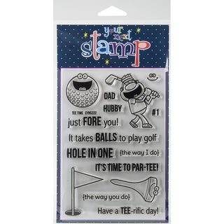 "Your Next Stamp Clear Stamps 4""X6""-Tee Time"