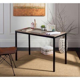 "Safavieh Janison 47"" Grey / Black Writing Desk"