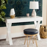 Safavieh Alessia Mid Century Lacquer White One Drawer Vanity Desk