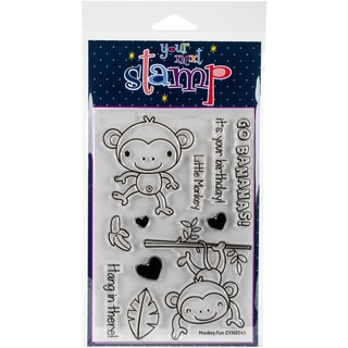 "Your Next Stamp Clear Stamps 4""X6""-Monkey Fun"