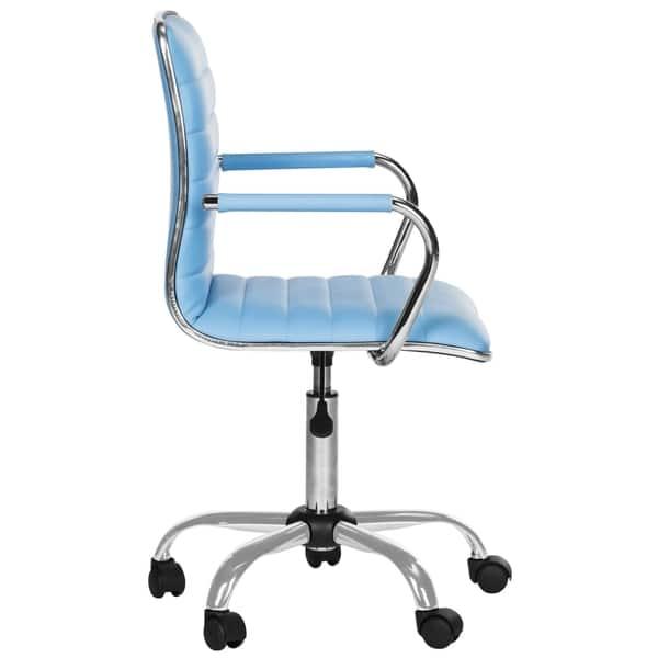 Cool Shop Safavieh Jonika Contemporary Adjustable Blue Desk Chair Bralicious Painted Fabric Chair Ideas Braliciousco