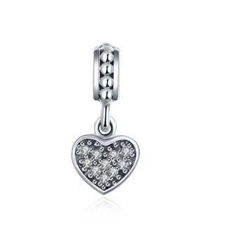 Sterling Silver Swarovski Crystals Love Charm