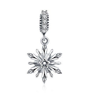 Sterling Silver Single Snowflake Charm