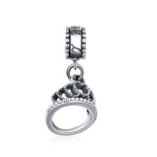 Pretty Princess Sterling Silver Crown Charm