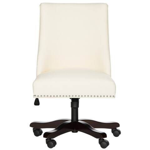 "Safavieh Scarlet Cream Desk Chair - 25"" x 27"" x 38"""