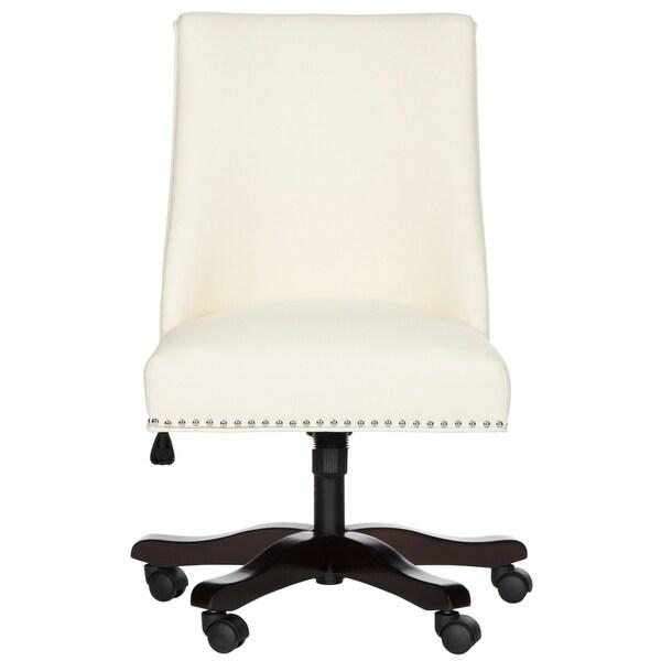 "Safavieh Scarlet Cream Desk Chair - 25"" x 27"" x 38"". Opens flyout."