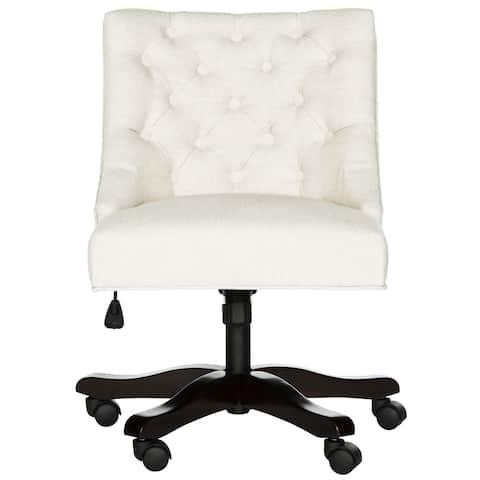 "Safavieh Soho Swivel Light Cream Desk Chair - 25.2"" x 27.2"" x 33.9"""
