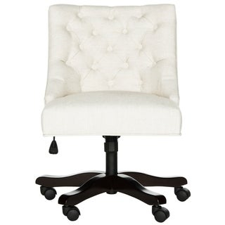 Safavieh Soho Swivel Light Cream Desk Chair